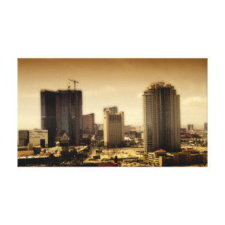 LAS VEGAS, view from stratosphere in sepia Canvas Print