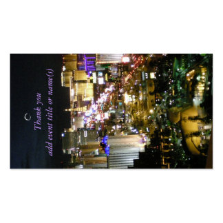 Las Vegas View Gift Tags Business Card
