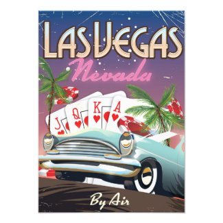 Las Vegas vintage style vacation poster