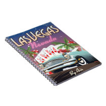 Las Vegas vintage style vacation poster Notebook