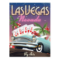 Las Vegas vintage style vacation poster Postcard