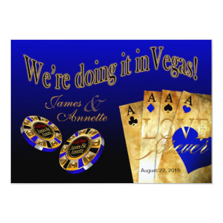 Las Vegas VIP Wedding   blue Card