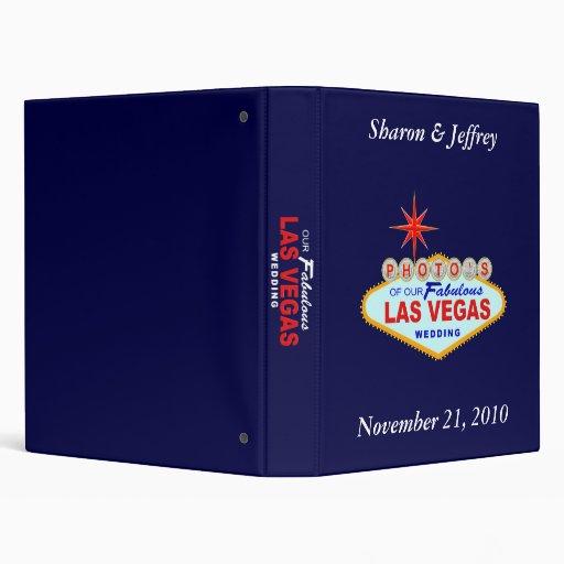 Las Vegas Wedding Album 2 3 Ring Binders