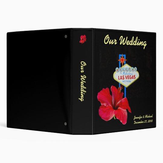 Las Vegas Wedding Album with Hawaiian Hibiscus Binder