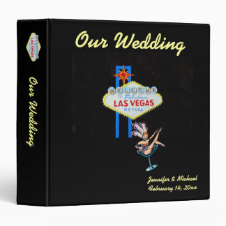 Las Vegas Wedding Album with Welcome Sign 3 Ring Binder