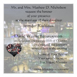 Las Vegas Wedding and Reception Casino Heart 5.25x5.25 Square Paper Invitation Card