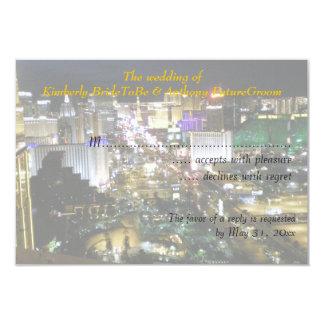 Las Vegas Wedding and Reception RSVP Card