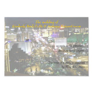Las Vegas Wedding and Reception RSVP 3.5x5 Paper Invitation Card