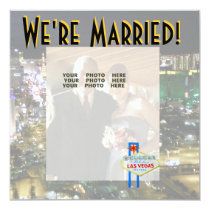 Las Vegas Wedding Announcement Photo Card