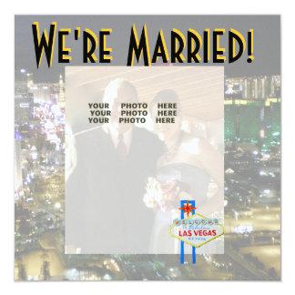 Las Vegas Wedding Announcement Photo Card