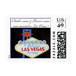 Las Vegas Wedding Announcement Stamps