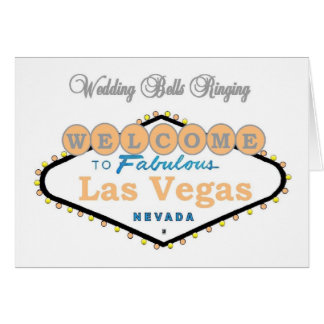 Las Vegas Wedding Bells Ringing Announcement Cards