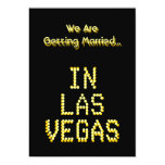 Las Vegas Wedding. Black and Golden Yellow. Custom Personalized Announcement