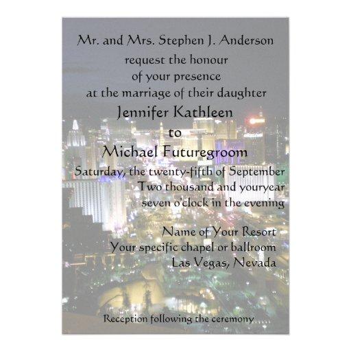 Las Vegas Wedding Boulevard View Custom Announcement