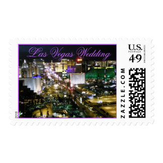 Las Vegas Wedding Bride and Groom Postage