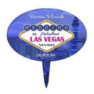 Las Vegas Wedding Cake Topper