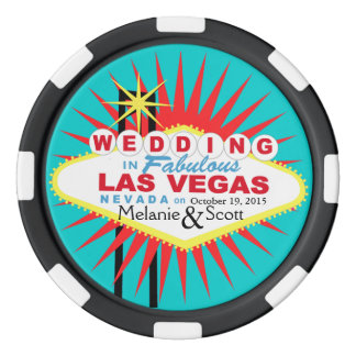 Las Vegas Wedding Casino Chip Set Of Poker Chips
