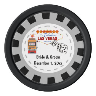 Las Vegas Wedding Casino Chips Poker Chips Set