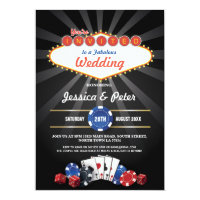 Las Vegas Wedding Casino Dice Party Invite