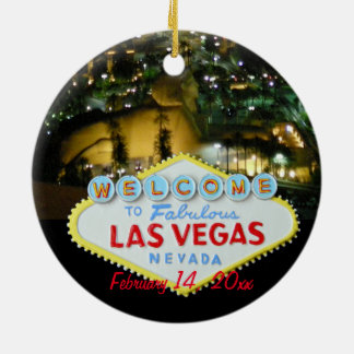 Las Vegas Wedding Celebration Ornaments