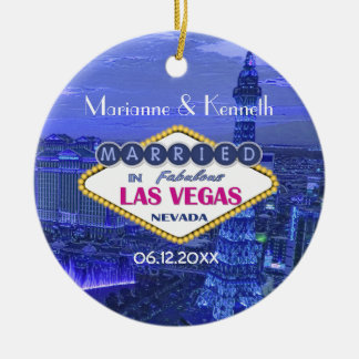 Las Vegas Wedding Ceramic Ornament