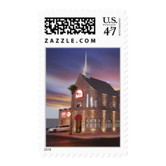 Las Vegas Wedding Chapel with limo Postage