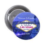 Las Vegas Wedding - Customize Pinback Button