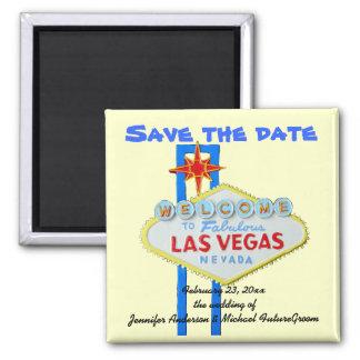 Las Vegas Wedding Date Announcement Magnet