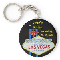Las Vegas Wedding Date Keychain