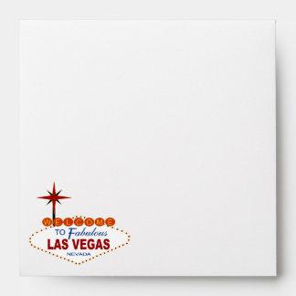 Las Vegas Wedding Envelope Square