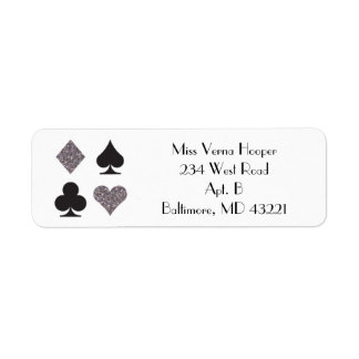 Las Vegas Wedding Faux Platinum Glitter Label