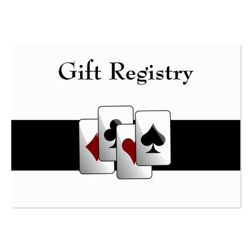 Las vegas wedding gift registry cards zazzle for Gift cards for wedding registry