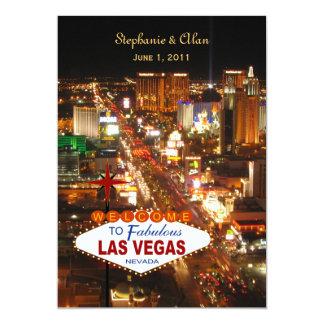 "Las Vegas Wedding Invitation 5"" X 7"" Invitation Card"