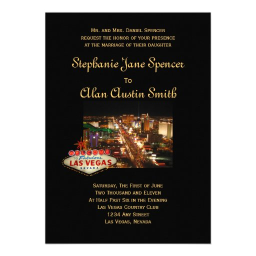 Las Vegas Wedding Invitation (back side)