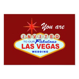 Las Vegas Wedding Invitation BURGUNDY