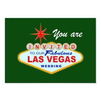Las Vegas Wedding Invitation GREEN