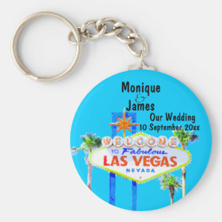 Las Vegas Wedding Invitation Keychain