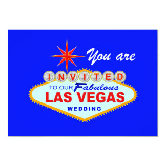 Las Vegas Wedding Invitation  LITEBLUE