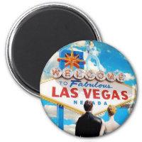 Las Vegas Wedding Invitation Magnet