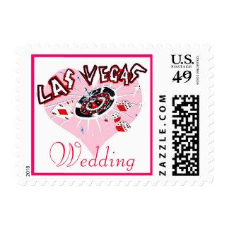 Las Vegas Wedding Invitation or Announcement Postage Stamps