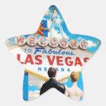 Las Vegas Wedding Invitation Star Sticker