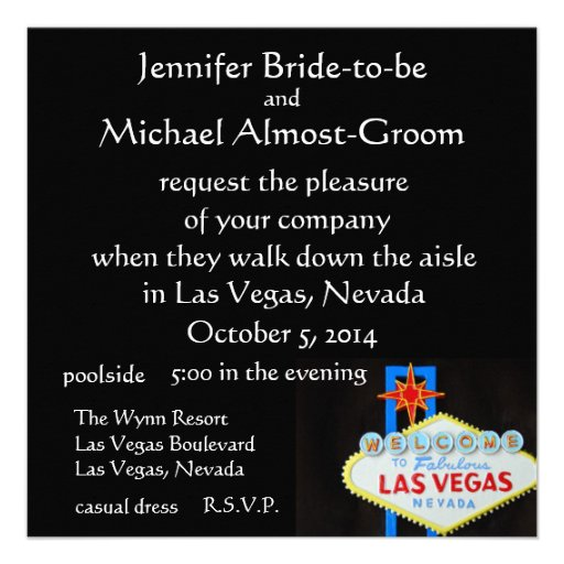 Las Vegas Wedding Invite
