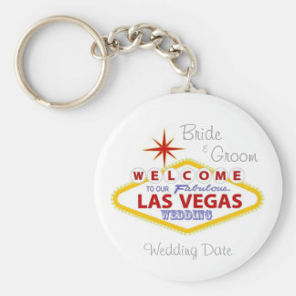 Las Vegas Wedding Keepsake Keychain