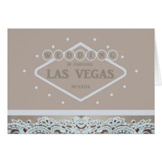 Las Vegas WEDDING Lace Card