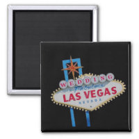 Las Vegas WEDDING Magnet Sample 1