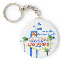 Las Vegas Wedding Memento Keychain