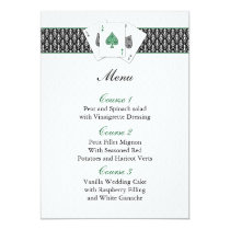 Las vegas wedding menu cards