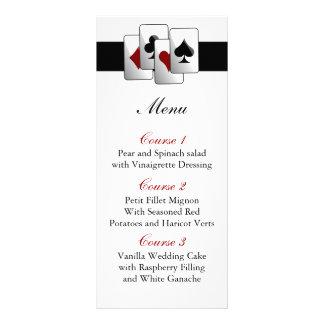 Las vegas wedding menu cards custom rack cards