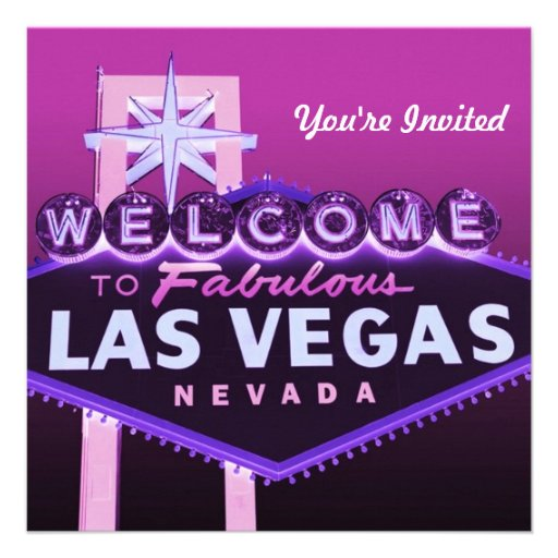 Las Vegas Wedding or Any Event Formal Invitation