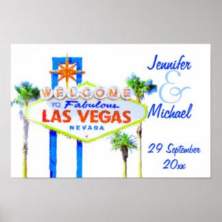 Las Vegas Wedding Party Sign Poster